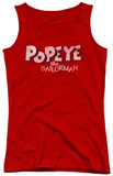 Juniors Tank Top: Popeye - 3D Logo Tank Top