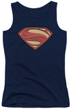 Juniors Tank Top: Man Of Steel - New Solid Shield Tank Top