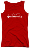 Juniors Tank Top: Old School - Speaker City Logo Tank Top