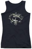 Juniors Tank Top: Man Of Steel - Skulls And Symbols Tank Top