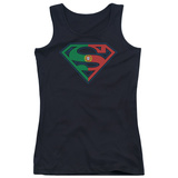 Juniors Tank Top: Superman - Portugal Shield Tank Top