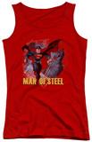 Juniors Tank Top: Man Of Steel - Fly By Tank Top