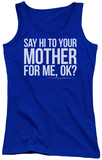 Juniors Tank Top: Saturday Night Live - Hi Mother Tank Top