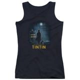 Juniors Tank Top: Tintin - Title Poster Tank Top