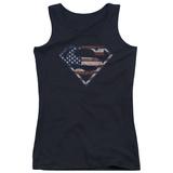 Juniors Tank Top: Superman - Wartorn Flag Tank Top