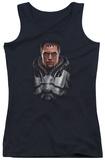 Juniors Tank Top: Man Of Steel - Zod Bust Tank Top