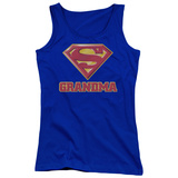 Juniors Tank Top: Superman - Super Grandma Tank Top