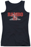 Juniors Tank Top: Rambo III - John Rambo Tank Top