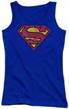 Juniors Tank Top: Superman - Action Shield Womens Tank Tops