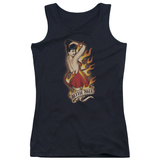 Juniors Tank Top: Bettie Page - Devil Tattoo Tank Top