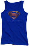 Juniors Tank Top: Man Of Steel - MOS New Logo Tank Top