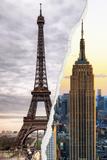 Dual Torn Posters Series - Paris - New York Reproduction murale par Philippe Hugonnard