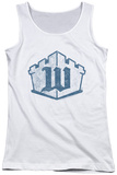 Juniors Tank Top: White Castle - Monogram Tank Top