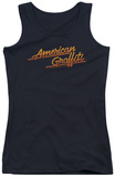 Juniors Tank Top: American Grafitti - Neon Logo Tank Top