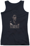 Juniors Tank Top: Scarface - B&W Tony Tank Top