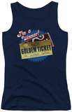 Juniors Tank Top: Chocolate Factory - Golden Ticket Tank Top