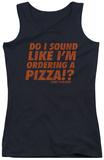 Juniors Tank Top: Die Hard - Pizza Tank Top
