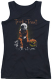 Juniors Tank Top: Trick R Treat - Sitting Sam Tank Top