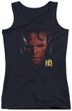 Juniors Tank Top: Hellboy II - Hellboy Head Tank Top