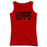 Juniors Tank Top: Voice - Turned My Chair Tank Top