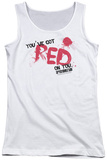 Juniors Tank Top: Shaun Of The Dead - Red On You Womens Tank Tops