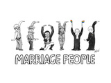 Marriage People - Cartoon Premium Giclee Print by Tom Toro
