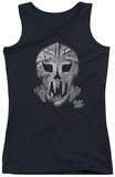 Juniors Tank Top: Slap Shot - Goalie Mask Tank Top