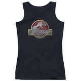 Juniors Tank Top: Jurassic Park - Logo Womens Tank Tops