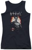 Juniors Tank Top: Man Of Steel - Steel Tank Top