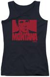 Juniors Tank Top: Scarface - Montana Face Womens Tank Tops