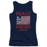 Juniors Tank Top: Woodstock - Peace Now Tank Top