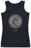 Juniors Tank Top: Hellboy II - Mignola Style Logo Tank Top