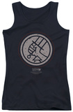 Juniors Tank Top: Hellboy II - Mignola Style Logo Womens Tank Tops