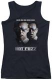Juniors Tank Top: Hot Fuzz - Big Cops Womens Tank Tops