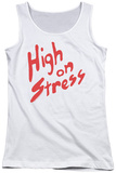 Juniors Tank Top: Revenge Of The Nerds - High On Stress Womens Tank Tops