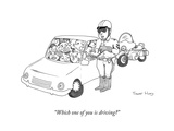"""Which one of you is driving"" - Cartoon Premium Giclee Print by Trevor Hoey"