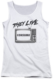 Juniors Tank Top: They Live - Consume Tank Top