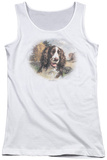 Juniors Tank Top: Wildlife - Springer Spaniel Head Tank Top