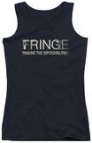 Juniors Tank Top: Fringe - Fringe Logo Tank Top