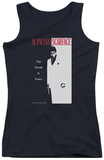 Juniors Tank Top: Scarface - Classic Womens Tank Tops
