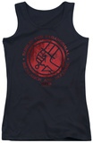 Juniors Tank Top: Hellboy II - BPRD Logo Tank Top