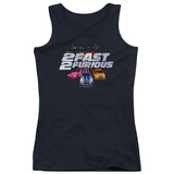 Juniors Tank Top: 2 Fast 2 Furious - Logo Womens Tank Tops