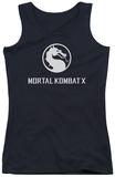 Juniors Tank Top: Mortal Kombat X - Dragon Logo Tank Top