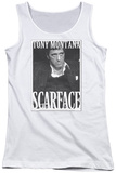 Juniors Tank Top: Scarface - Business Face Womens Tank Tops