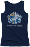 Juniors Tank Top: White Castle - Distressed Logo Tank Top