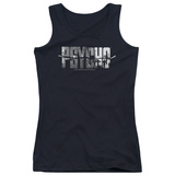 Juniors Tank Top: Psycho - Logo Cutout Tank Top