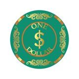 Pokerchip $1, 2015 Giclee Print by Francois Domain