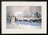 The Magpie, 1869 Framed Giclee Print by Claude Monet