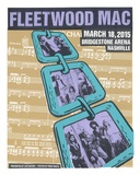 Fleetwood Mac Nashville Serigrafi af Print Mafia