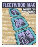 Fleetwood Mac Nashville Serigraph by  Print Mafia